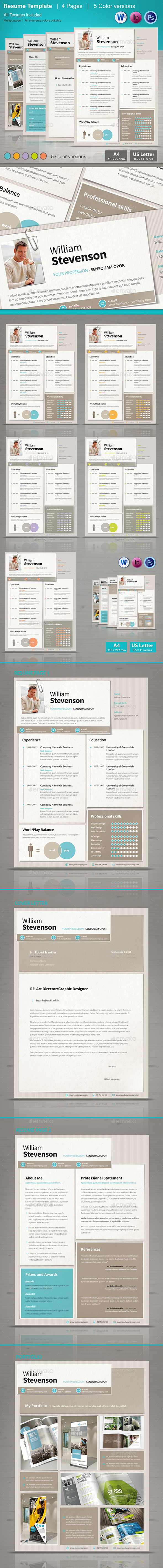 Resume/CV Template - Resumes Stationery