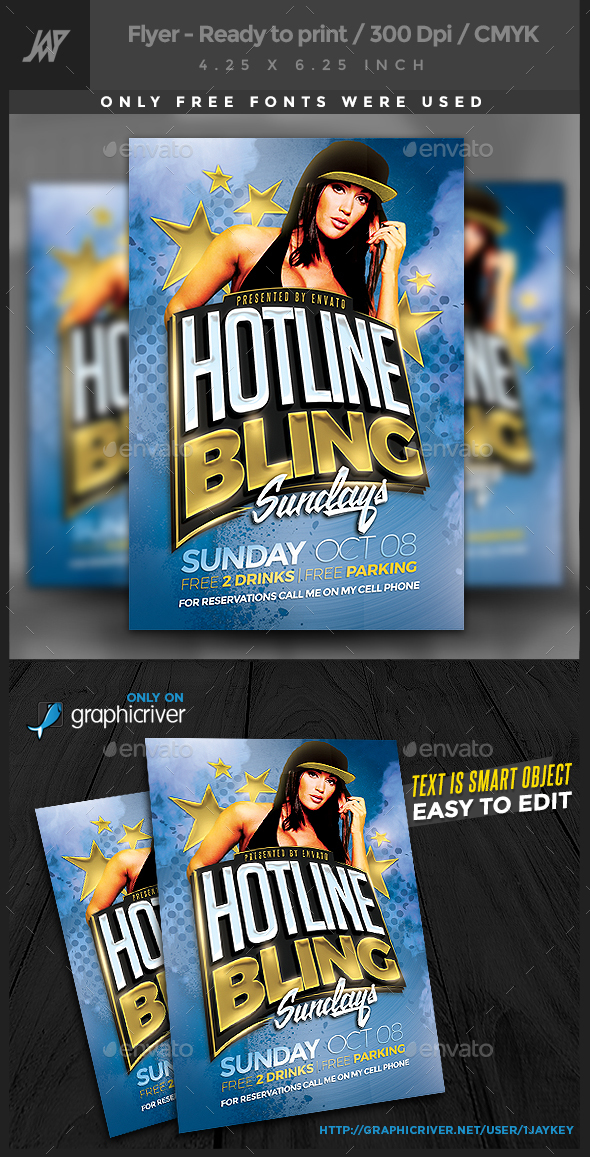 Hotline Bling Party Flyer - Clubs & Parties Events