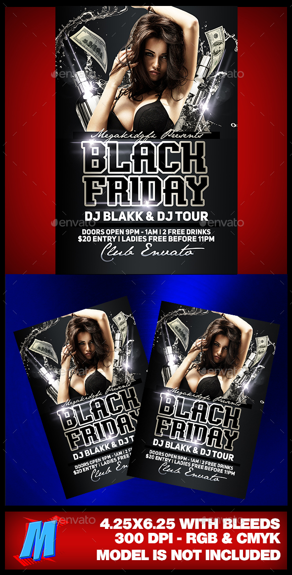Black Friday Party Flyer Template - Clubs & Parties Events