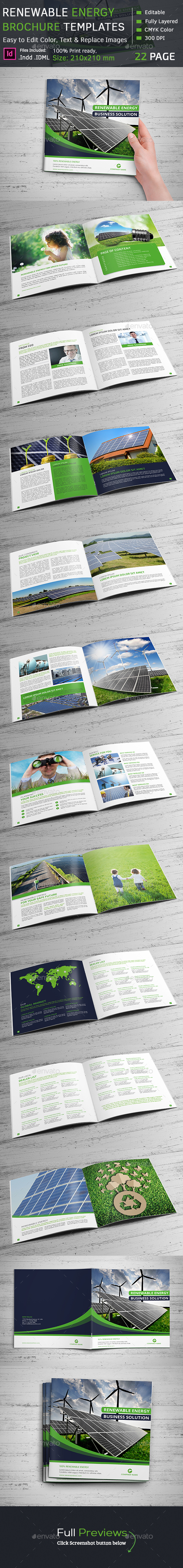 Renewable Energy Square Brochure - Corporate Brochures
