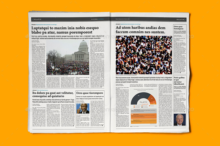 indesign newspaper template 5 columns by sacvand