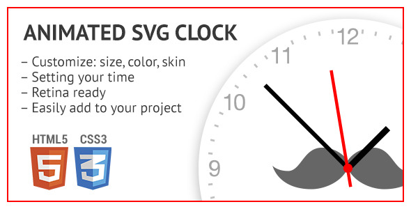 Animated SVG clock - CodeCanyon Item for Sale