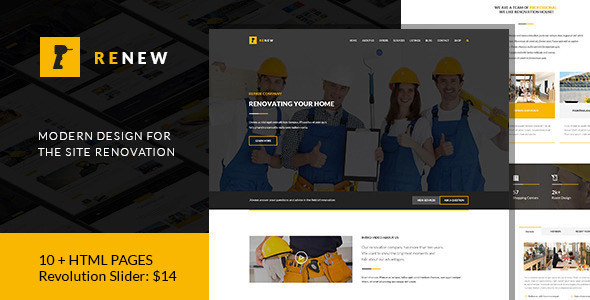 Renew – Renovation, Repair & Construction HTML