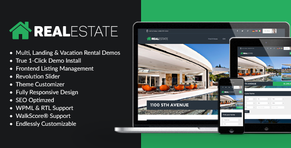 WP Pro Real Estate 7 – Responsive Real Estate WordPress Theme