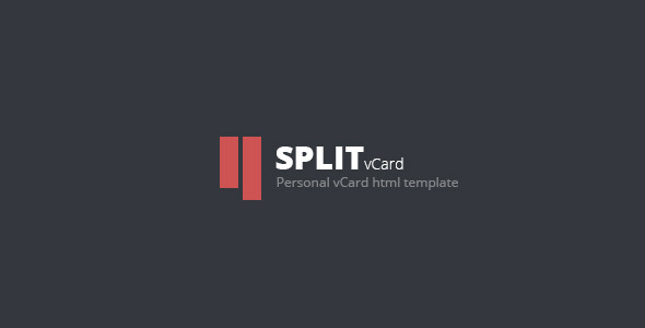 Split : Personal CV/Vcard Template - Virtual Business Card Personal