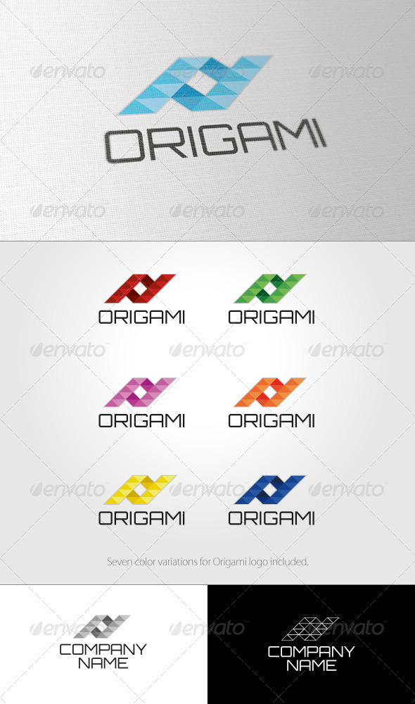 Origami Logo - Vector Abstract