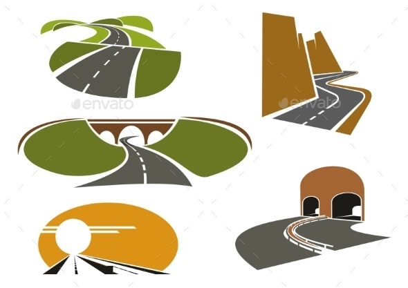 Speed Roads, Freeways, Underpass And Highways - Travel Conceptual