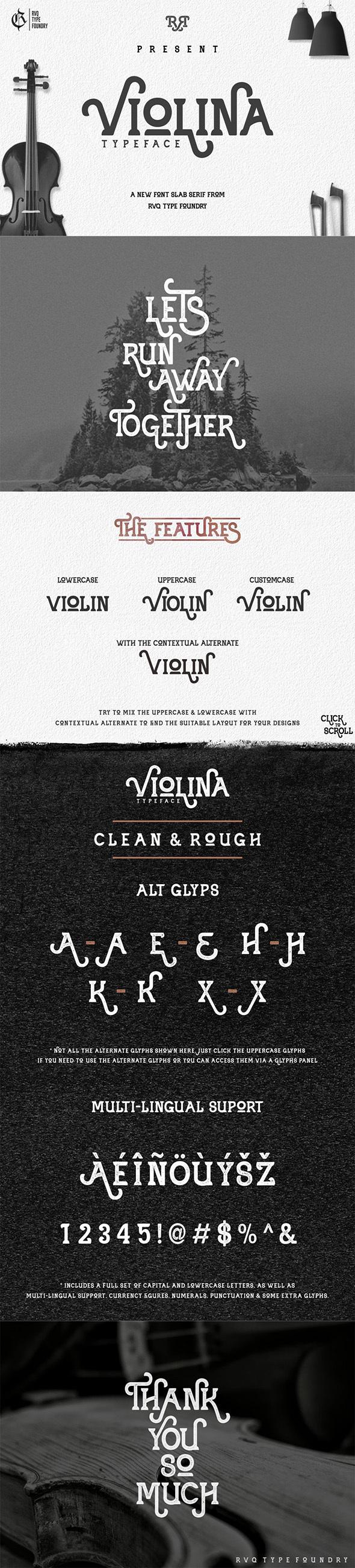 Violina typeface - Serif Fonts