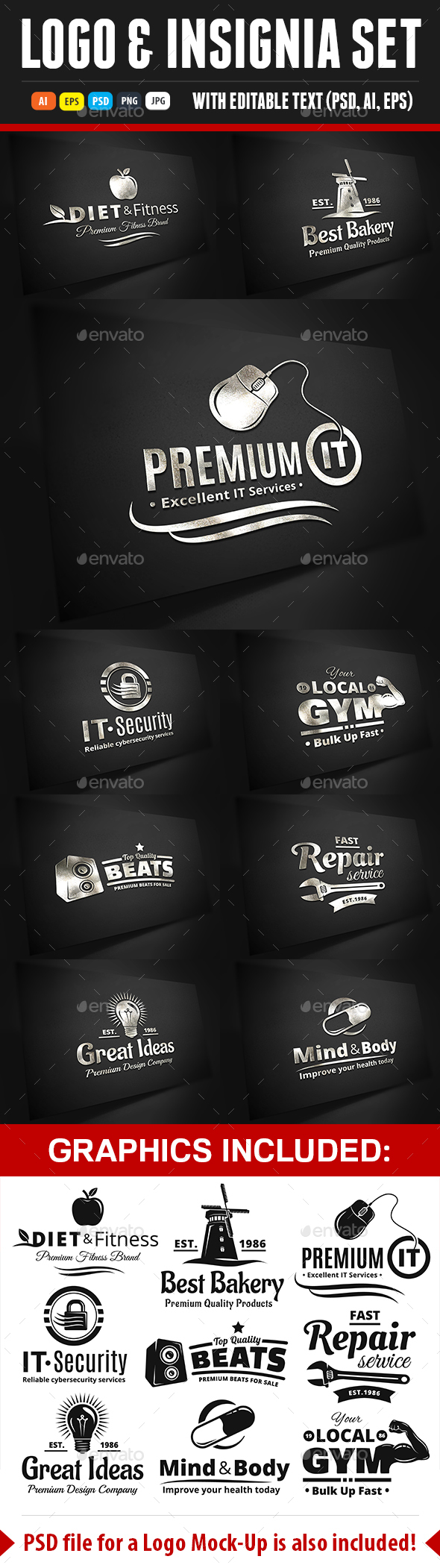 Logo Label Insignia And Icon Set - Badges & Stickers Web Elements