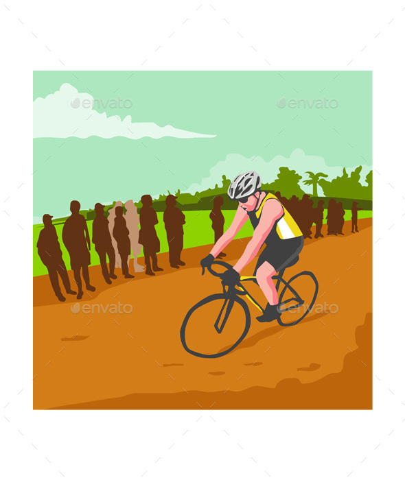 Cyclist Racing WPA - Sports/Activity Conceptual