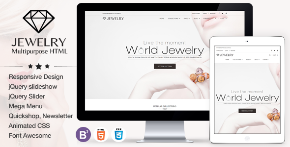 Jewelry – eCommerce Responsive HTML5 Template