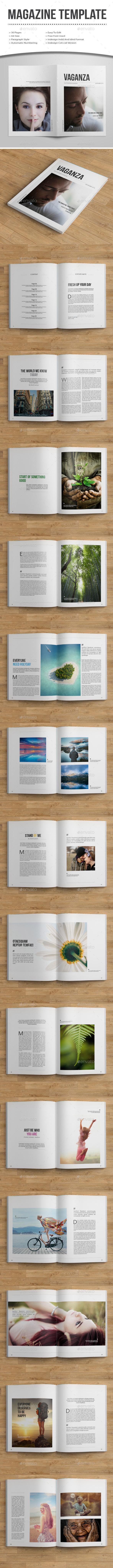 Minimal MagazineTemplate - Magazines Print Templates
