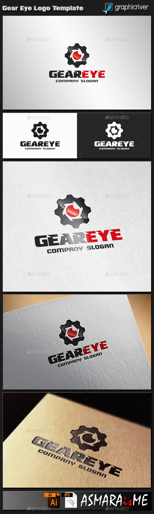 Gear Eye Logo - Abstract Logo Templates