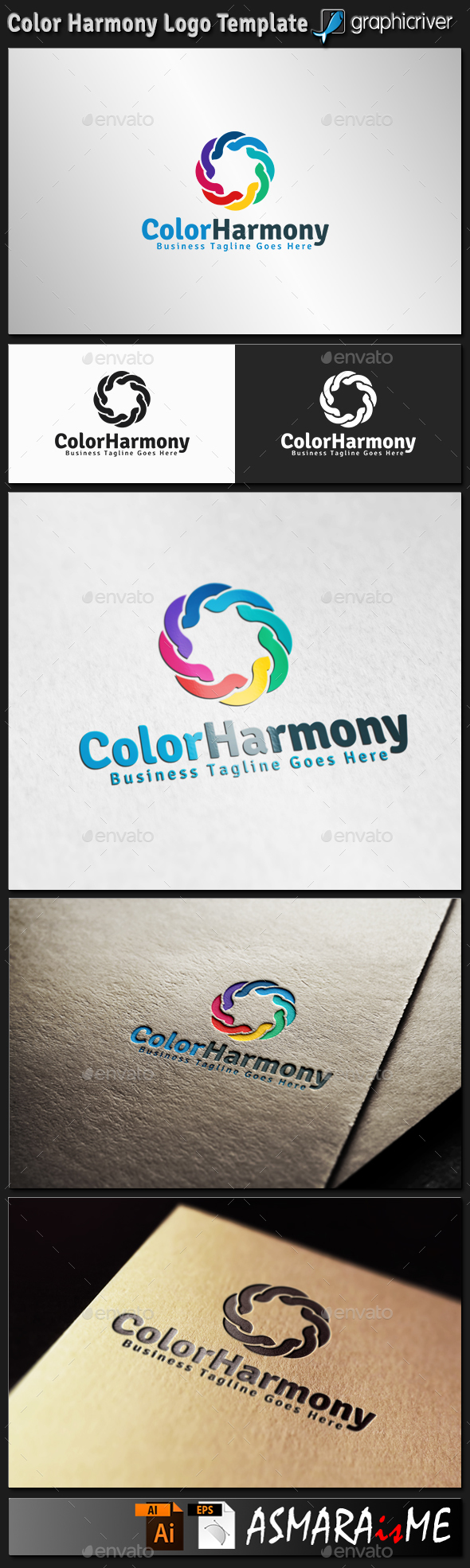 Color Harmony Logo - Abstract Logo Templates