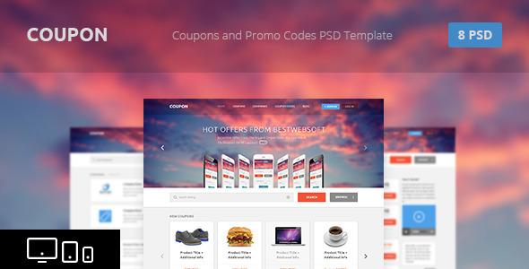 Coupon - Coupons and Promo Codes PSD Template - Retail PSD Templates