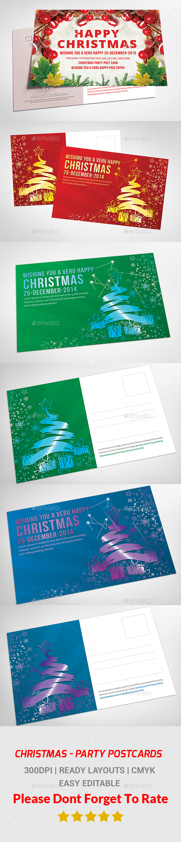 Christmas Postcard Bundle - Events Flyers