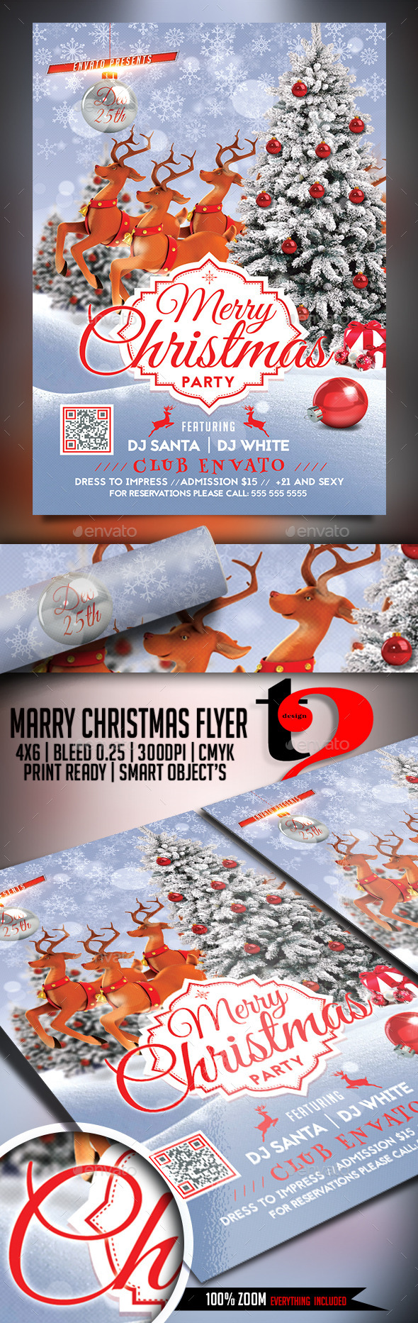 Christmas Party-Merry Christmas Flyer - Holidays Events