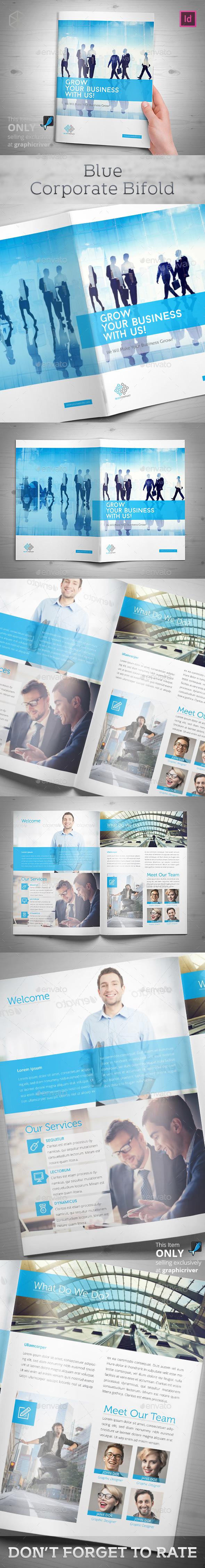 Blue Corporate Bifold - Corporate Brochures