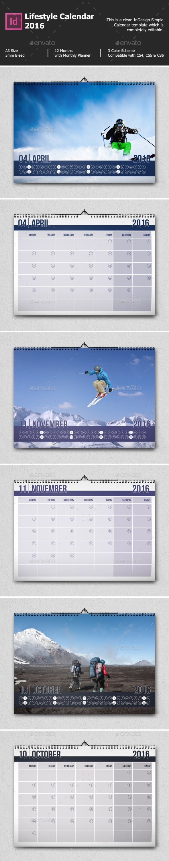 Lifestyle Calendar 2016 - Calendars Stationery