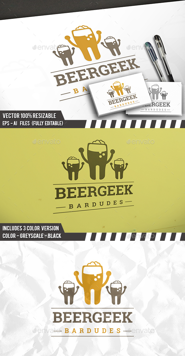 Beer People Logo - Food Logo Templates