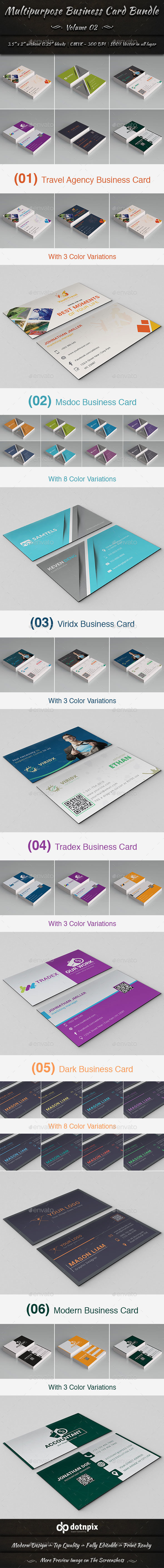 Multipurpose Business Card Bundle | Volume 2 - Corporate Business Cards