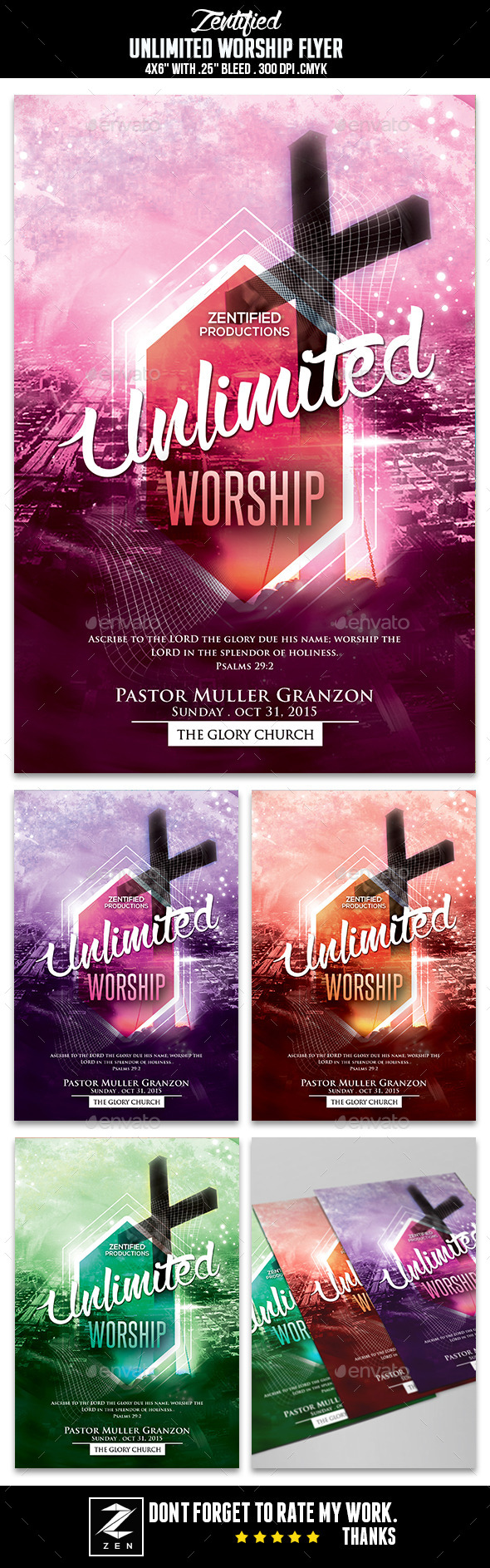 Unlimited Worship Flyer - Clubs & Parties Events