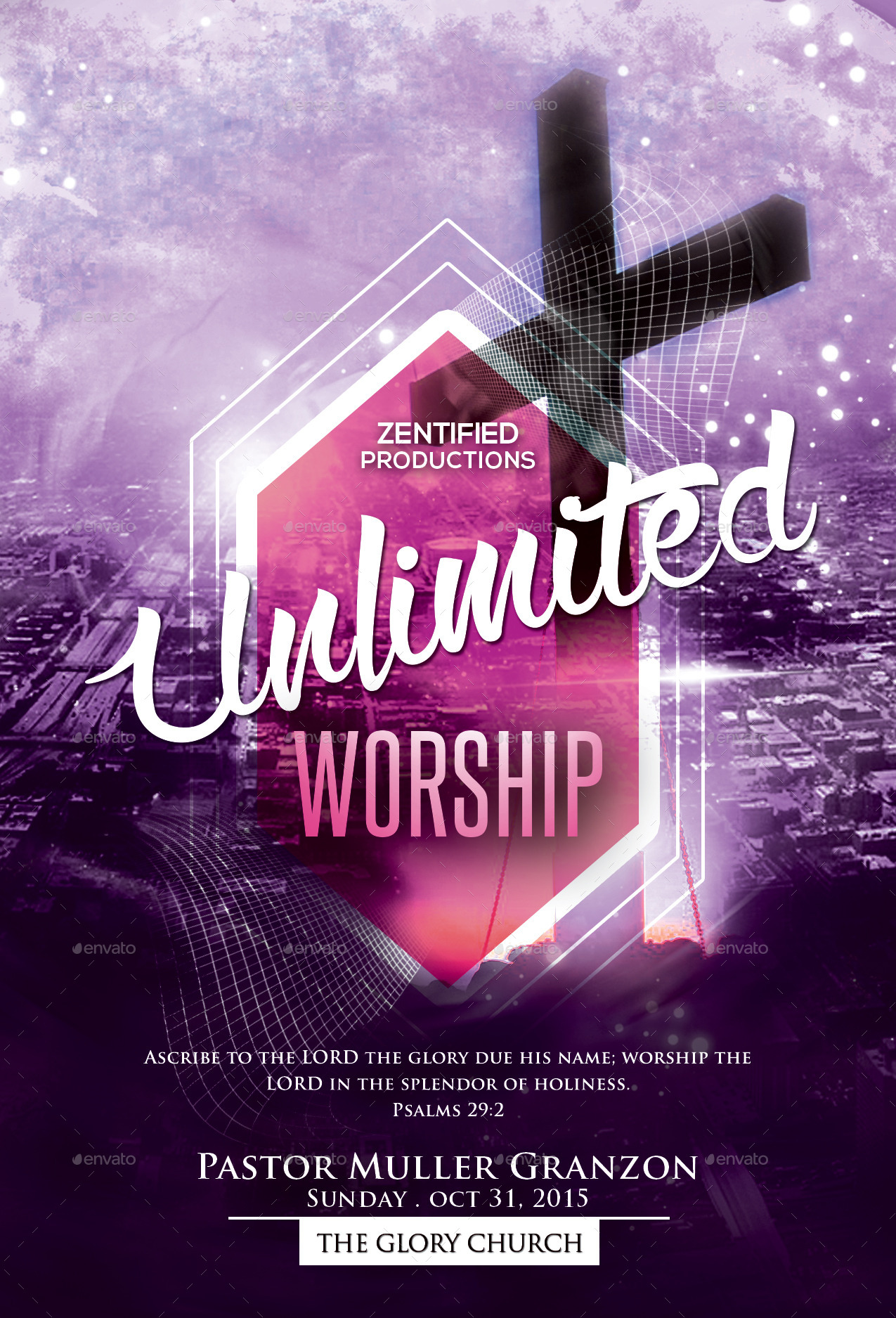 Unlimited Worship Flyer By Zentify Graphicriver