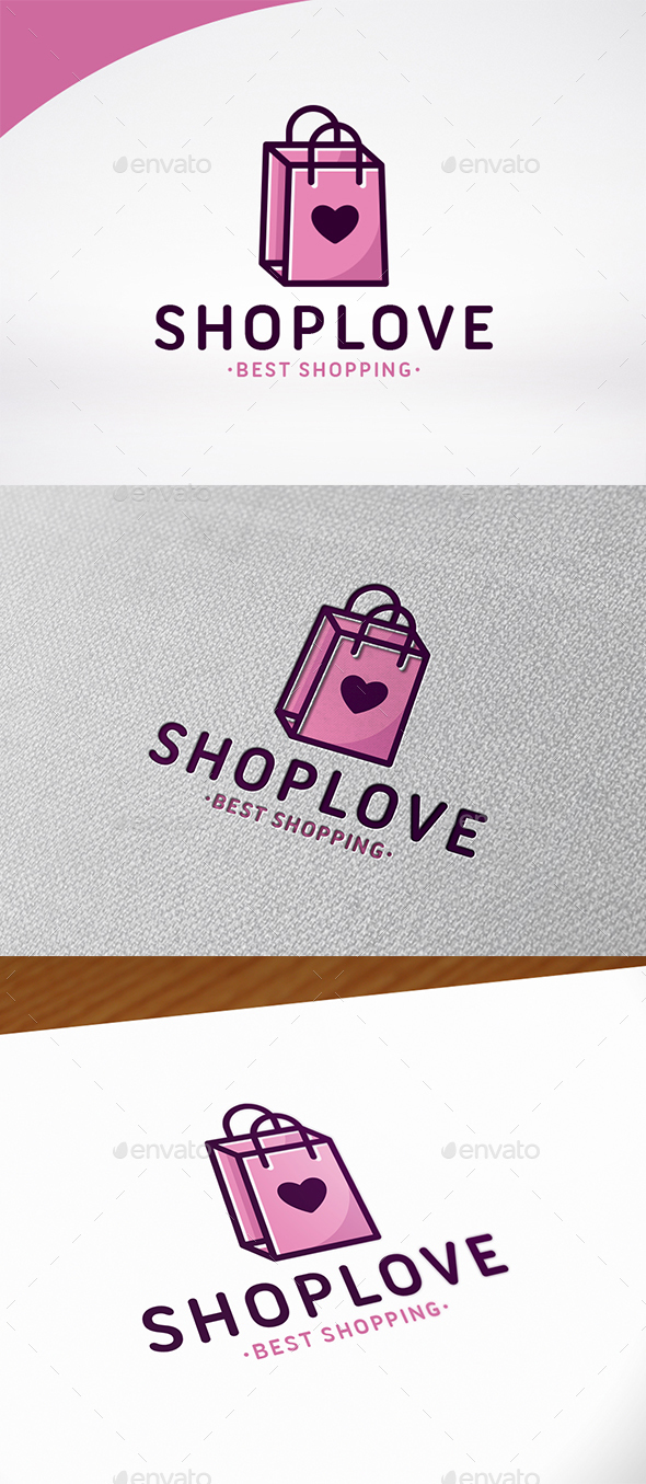 Love Shopping Logo Template - Symbols Logo Templates