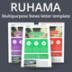 Ruhama Multipurpose News letter template - GraphicRiver Item for Sale