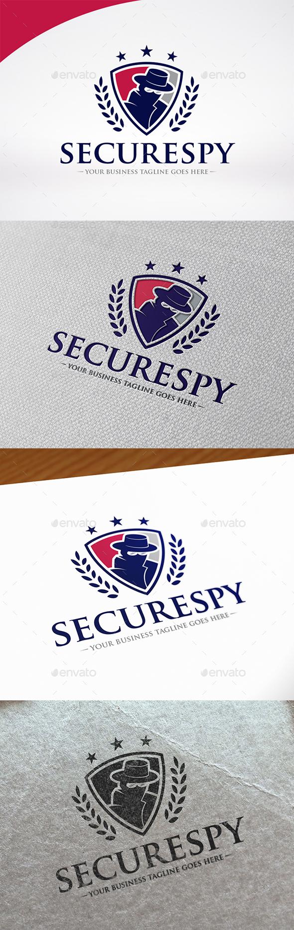 Spy Secure Logo Template - Humans Logo Templates