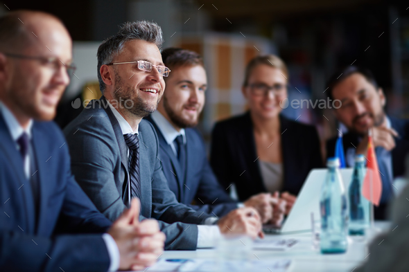 Business group at conference - Stock Photo - Images