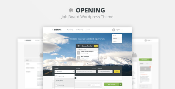 Opening - Job Board PSD Template - PSD Templates