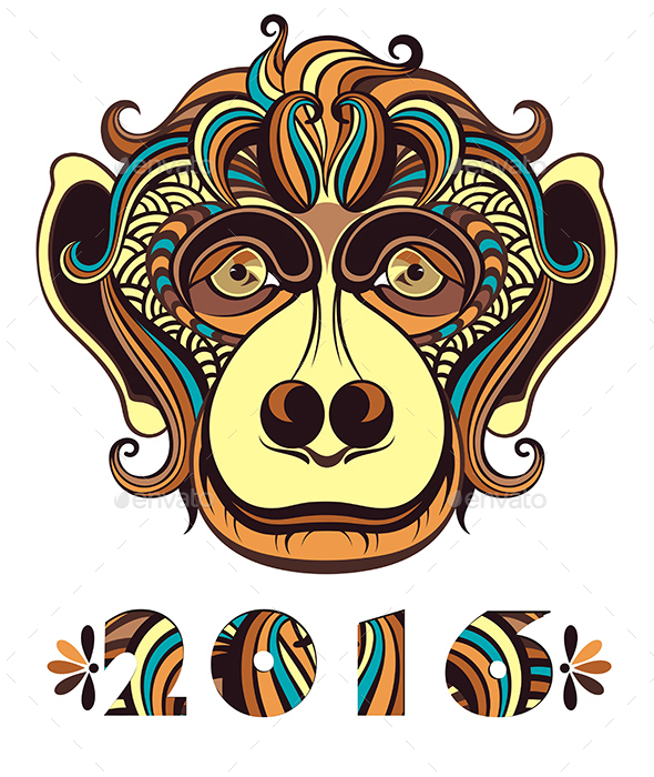 Vector Illustration of a Monkey - Animals Characters