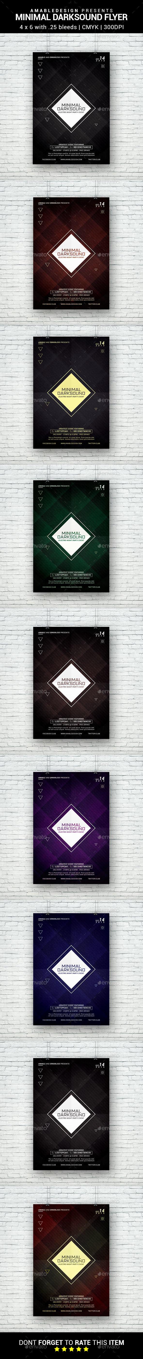 Minimal Darksound Flyer - Clubs & Parties Events