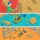 Warehouse Isometric Flat Vector Illustration.  - GraphicRiver Item for Sale