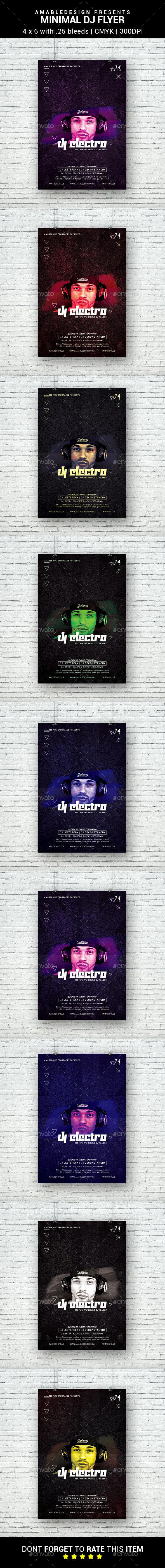 Minimal DJ Flyer - Clubs & Parties Events