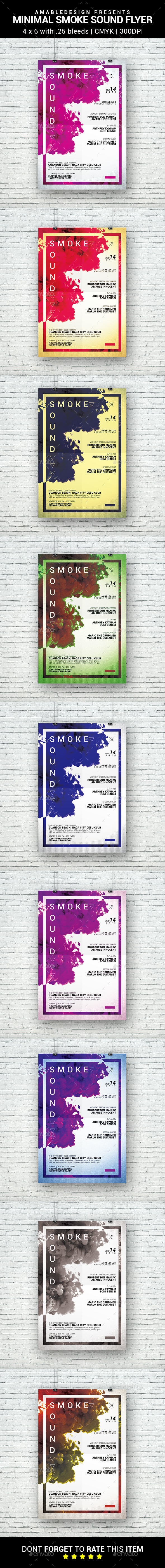 Smoke Sound Flyer - Clubs & Parties Events
