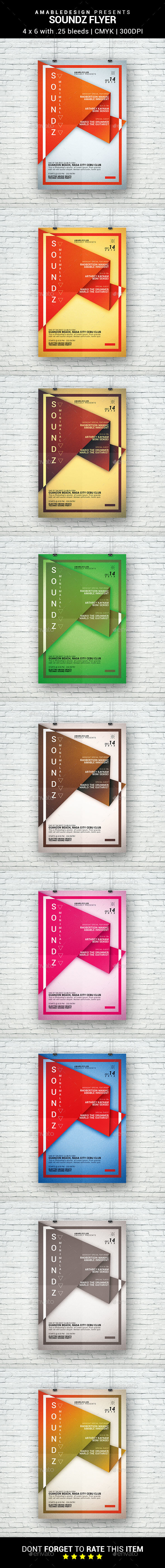 Soundz Flyer - Clubs & Parties Events