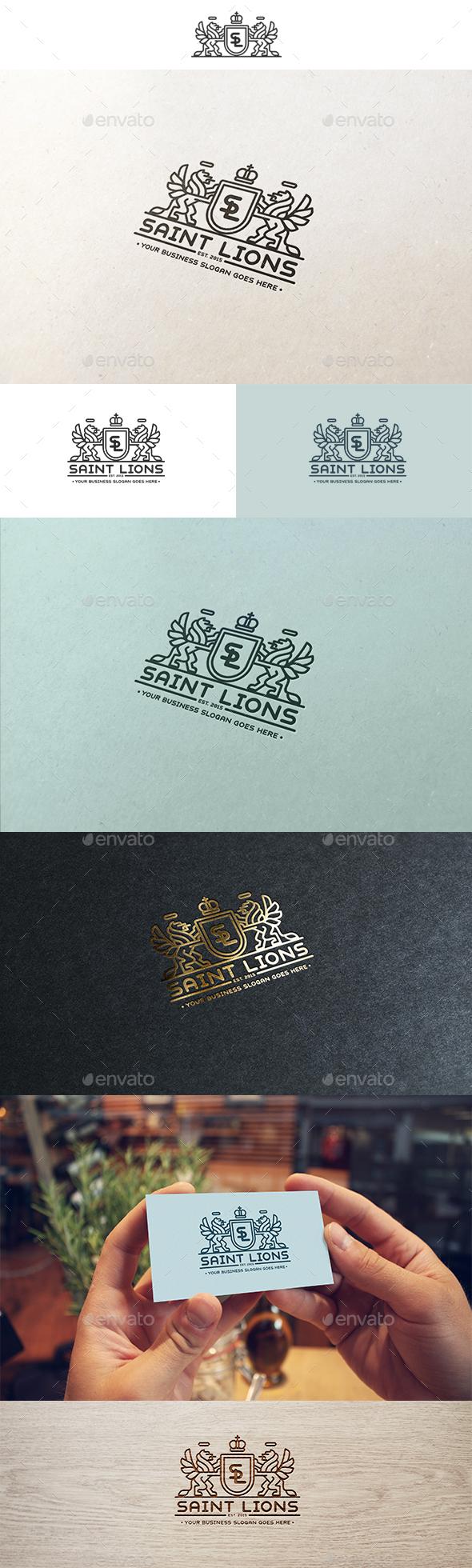 Saint Lions Logo - Crests Logo Templates