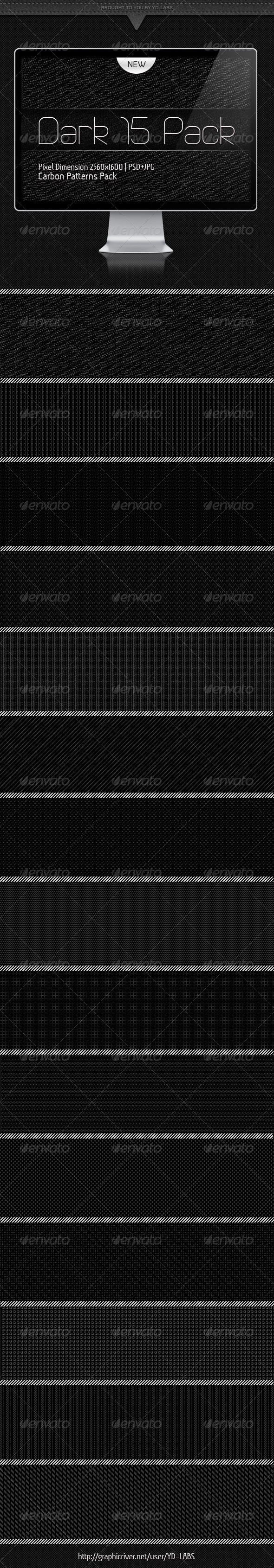 15 Dark Patterns Pack - Backgrounds Graphics