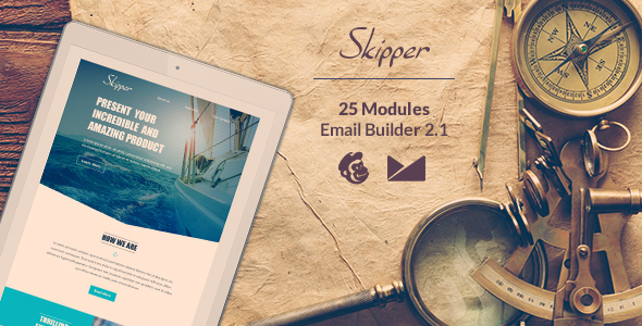 Skipper Email-Template + Online EmailBuilder 2.1 - Newsletters Email Templates
