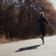 The Girl Running In Autumn Park - VideoHive Item for Sale