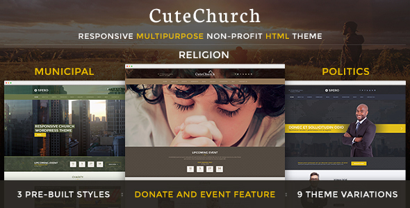 CuteChurch — Religion Responsive HTML Theme