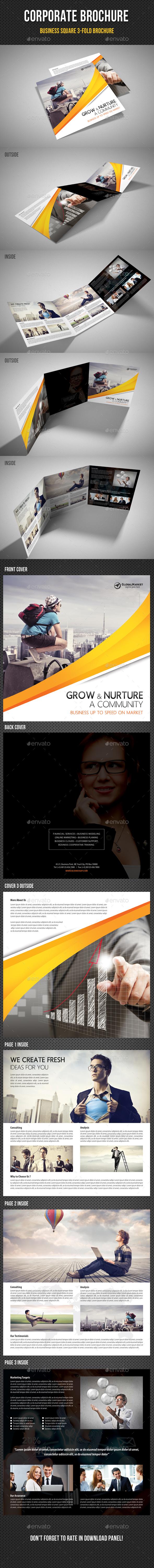 Corporate Business Square 3-Fold Brochure V05 - Corporate Brochures