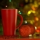 Red Cup With Christmas Toys Over Holiday - VideoHive Item for Sale