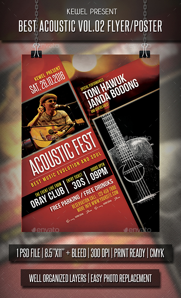 Acoustic Flyer / Poster Vol.02 - Events Flyers