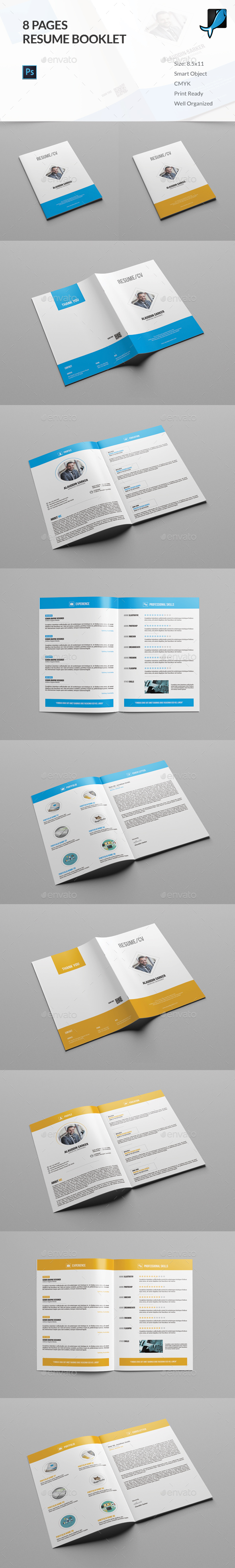 Resume Booklet Graphics, Designs & Templates from GraphicRiver