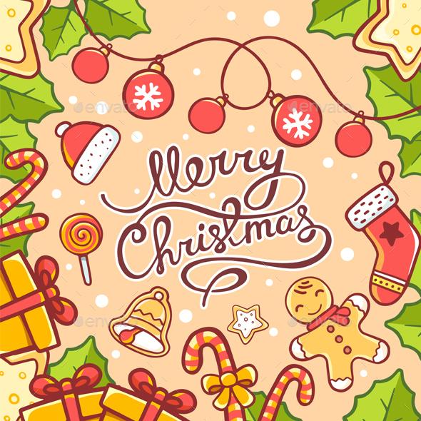 Christmas Card with Wishes - Christmas Seasons/Holidays