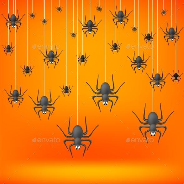 Set Od Grey Spiders  - Halloween Seasons/Holidays