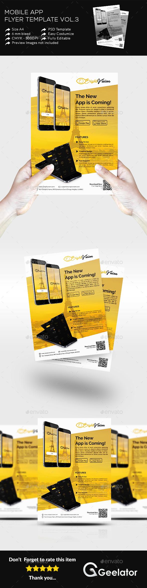 Mobile App Flyer Template Vol 3 - Commerce Flyers